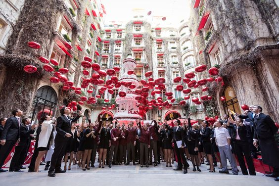 Slideshow from Town and Country magazine celebrating Hotel Plaza Athenee's centenary with historical pictures. #Paris
