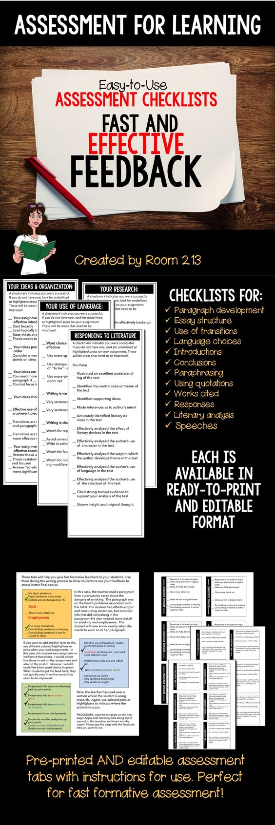 assessment for learning easy to use checklists for fast assessment checklists updated formative assessment is such a key part of the learning process we know it s important to give our students