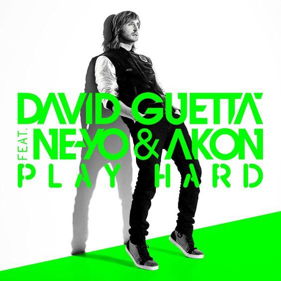 David Guetta, Ne-Yo, Akon – Play Hard (single cover art)