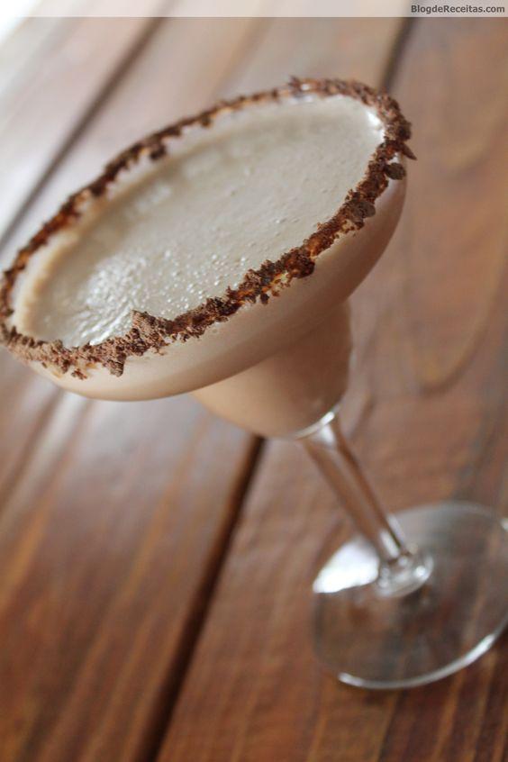 Margarita de Chocolate www.BlogdeReceitas.com