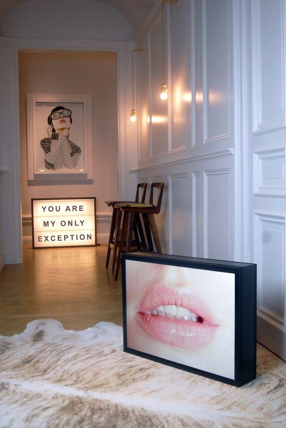 bxxlght lightbox interior design: