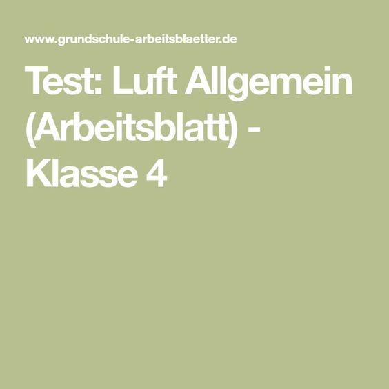 Test: Luft Allgemein (Arbeitsblatt) - Klasse 4   basteln thema wind ...