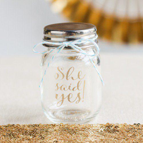Imprinted Mini Gl Mason Jars Are Pretty And Pee