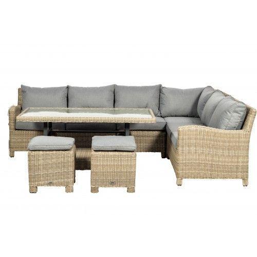 Garden Corner Sofa With Height Adjustable Table ...