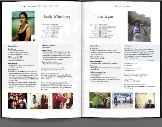 Classic style, full page profile, school leaversu0027 book Yearbook - follow up after sending resume