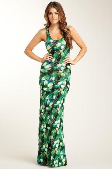 #Go Couture Scoop Neck Racerback Print Maxi Dress Maxi Dresses #2dayslook #MaxiDresses #sasssjane www.2dayslook.com