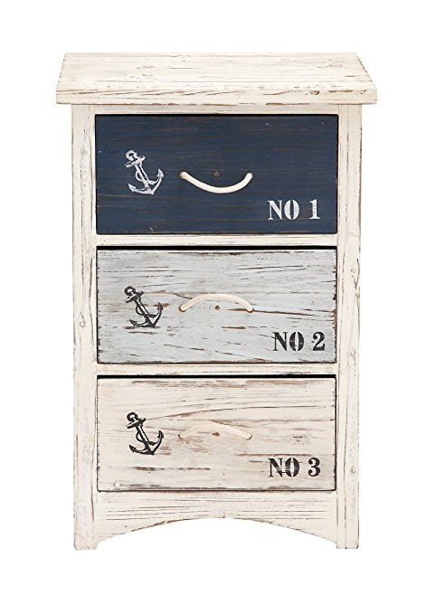 Great As An End Table In A Casual Room Or Night Stand For A Nautical Bedroom Like Ad Wood Nautical Che Perekraska Mebeli Morskoj Interer Predmety Interera