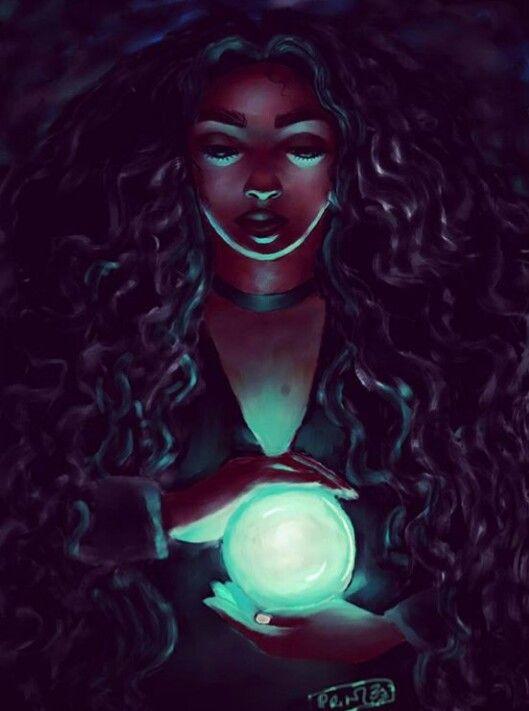 Pin by Alisigwe Linda on Black Art | Black love art, Witch art, Female art