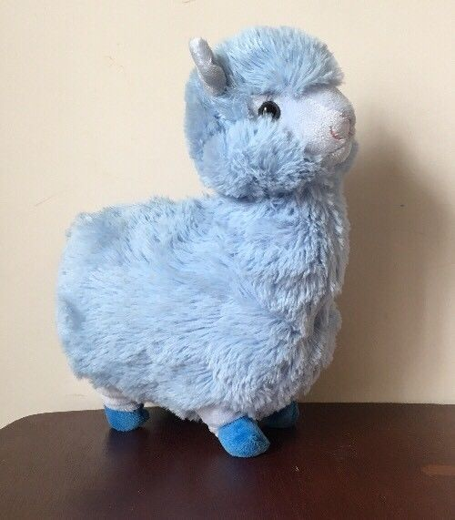"Teal Llama Stuffed Animal 12/""  Plush NEW"