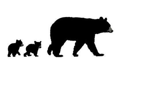 Bear With 2 Cubs Mama Bear Tattoos Black Bear Tattoo Bear Tattoos