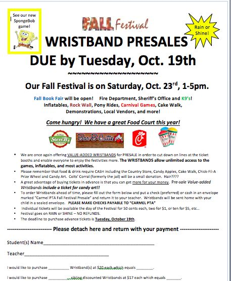Pre-sale flyer for carnivals and festivals! Happy fall!