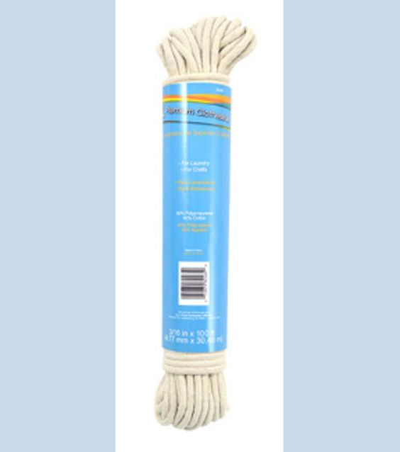 Dritz 100Ft Polypropylene Reinforced Cotton Clothesline