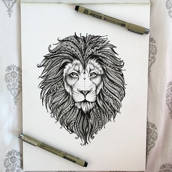 Gallery For gt Lion Henna Tattoo