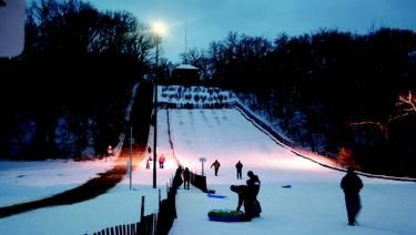 Winter fun slides into Swallow Cliff