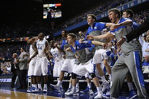Players celebrating after UK finally delivers in the clutch | The Kentucky Kernel