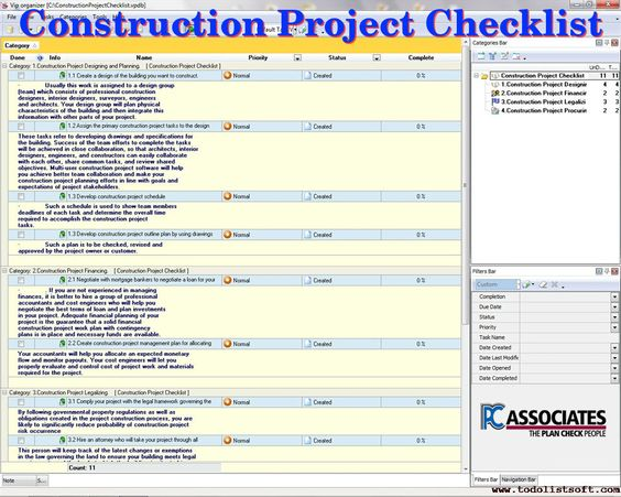 PC Associates Provides #Checklist of #Construction #Project - project checklist
