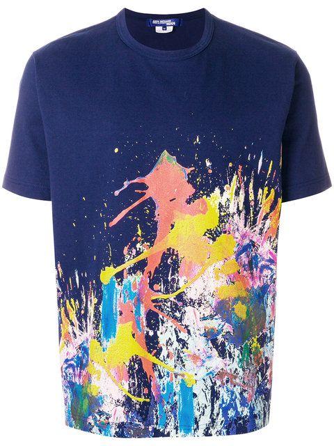 Junya Watanabe MAN paint splash print T shirt