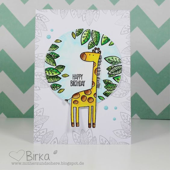 Giraffe, Happy Birthday, Geburtstag, Karte