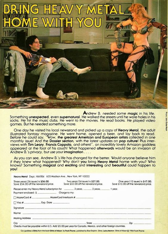 1980s vintage Heavy Metal ad