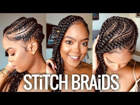 Here S How To Do A Feed In Stitch Braid And Why It S Perfect For Summer Vacation Black Vacation Hairstyles Natural Hair Styles For Black Women Stitch Braids
