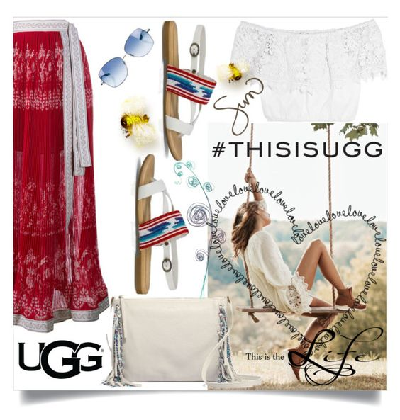 """""""Play With Prints In UGG: Contest Entry"""" by dorinela-hamamci ❤ liked on Polyvore featuring UGG Australia, Miguelina, Etro, Paul Smith and thisisugg"""