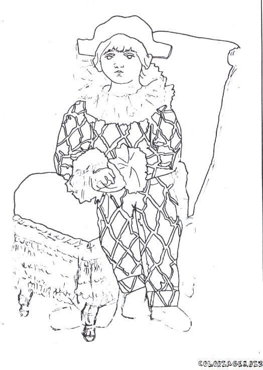 Arlequim De Picasso Para Colorear Pesquisa Google Arlequines Picasso Colores