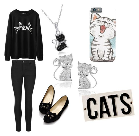 """Cat outfit"" by ucandreambig ❤ liked on Polyvore featuring HomArt, Amanda Rose Collection and Journee Collection"