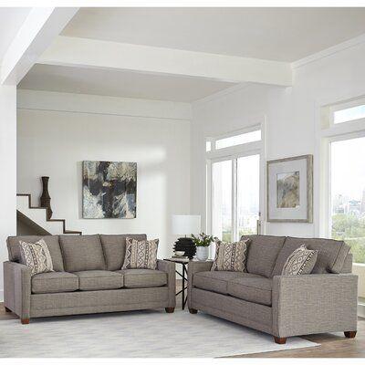Brayden Studio Nedra Modern Track 2 Piece Living Room Set Wayfair In 2020 Living Room Sets Leather Sofa And Loveseat Living Room Sets Furniture