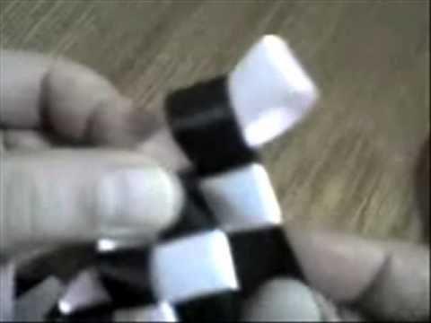 عمل ظفيرة بشرائط الساتان - YouTube