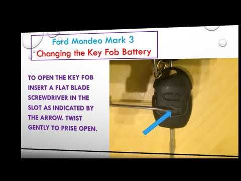 Changing The Key Fob Battery Ford Mondeo Mark3 Ford Mondeo