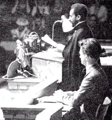 Discurso del Emperador Etiope Haile Selassie I sobre los abusos de la italia facista en la Liga de las Naciones de 1935; motivo principal para la disolucion de la liga y paso rapido a la Segunda Guerra Mundial