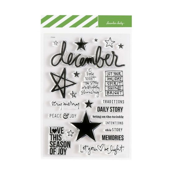 December Daily® Christmas Star 4x6 Stamp Set at Ali Edwards