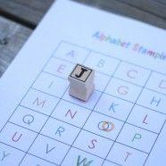 Alphabet Stamping {playdoughtoplato}