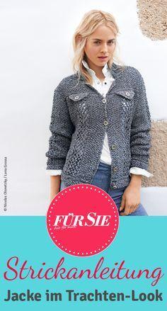 Auf FürSie.de könnt ihr die kostenlose Strickanleitung für eine Jacke im Trachtenlook ganz einfach herunterladen!