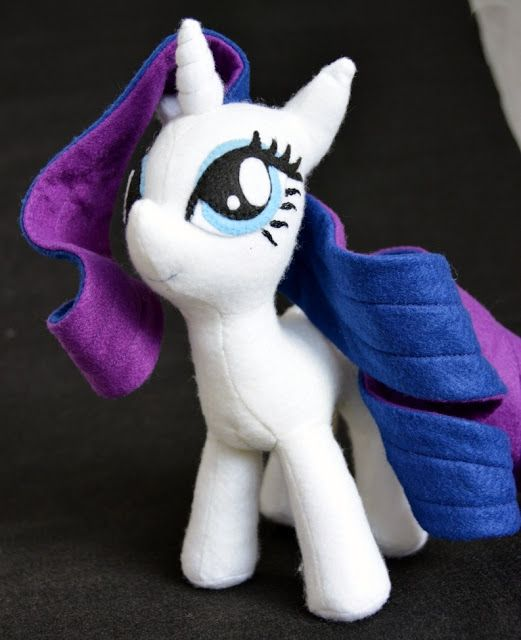 Rarity my little pony feltro pônei