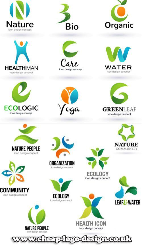green abstract company logo ideas