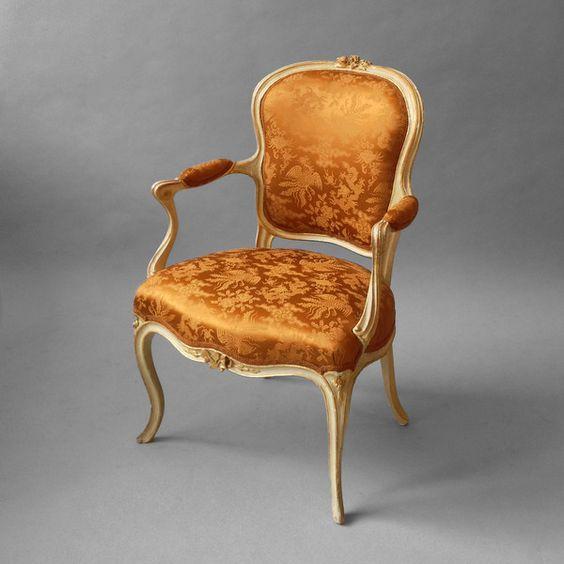 A louis xv painted salon armchair ca1760 france 34 h x 24 for Salon louis 15