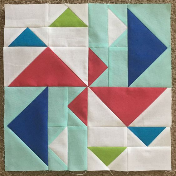 """Duck Duck Goose 12.5"""" quilt block by Orchid Owl quilts"""