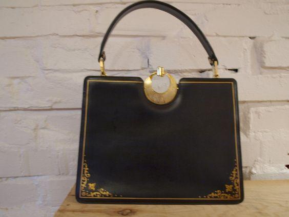 1950s handbags vintage | Home Vintage Handbags Vintage Gold Etched Satchel Handbag