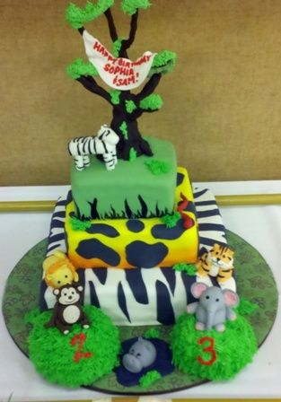 Cakes by Karen zoo party: