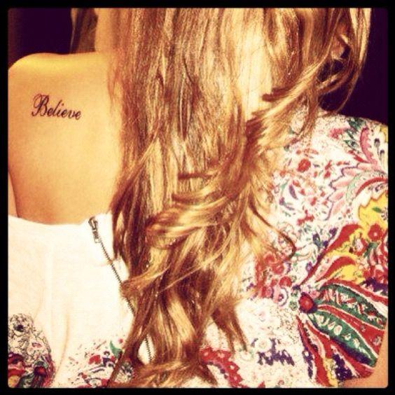 """""""believe"""" tattoo"""