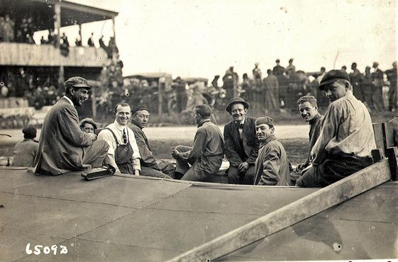 Views from the Pits of the 1910 Vanderbilt Cup Race