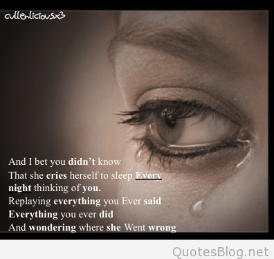 Don't let love get you down #Tears #Sorrow #Hurt