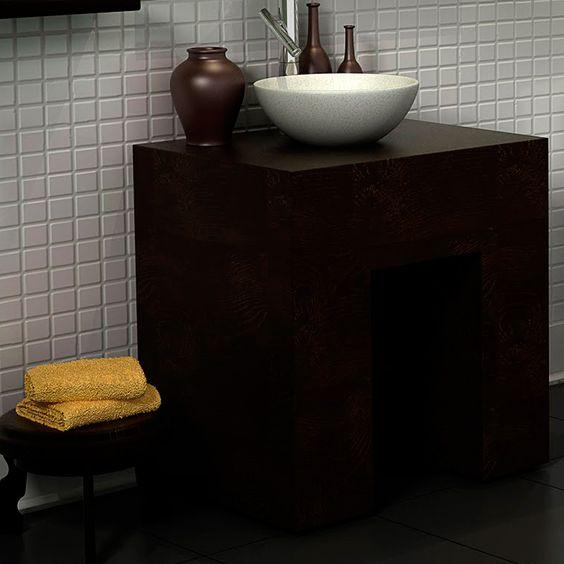 As cubas para banheiro fazem toda a diferença no ambiente tanto pela sua função com também para decoração. A cuba de apoio fica totalmente exposta e apoiada em cima da bancada.