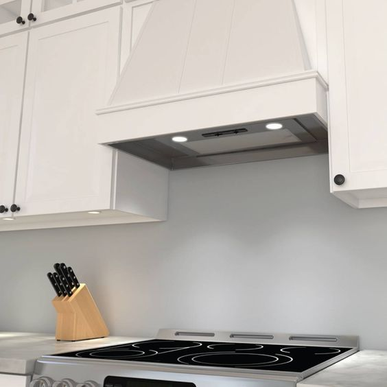 lovely Zephyr Hurricane Ak2500 Kitchen Hood #5: Blending in - the Tornado Mini vent hood by @discoverzephyr shares the spaceu2026