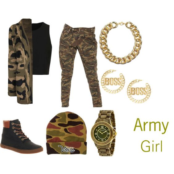 """""""Army Girl #2"""" by genesiswagg on Polyvore"""