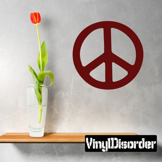 Peace Sign Wall Decal - Vinyl Decal - Car Decal - 047