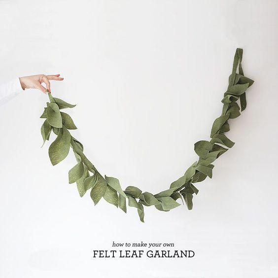 DIY, Felt Leaf Garland