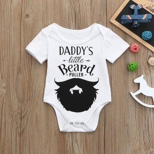 Cute Babies Bodysuit Clothing Daddy/'s Little Beard Puller Baby Grow