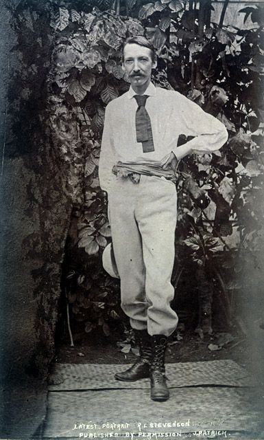 Robert Louis Stevenson at Vailima, Samoa not long before his untimely death in 1894